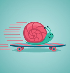 Snail on a board vector image vector image