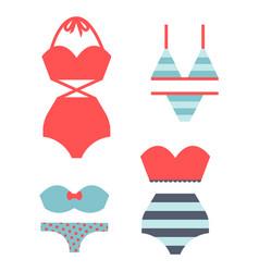 beachwear bikini cloth fashion looks vacation vector image vector image