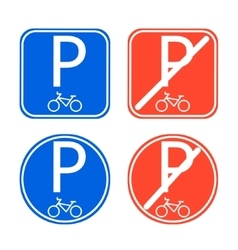 Bike parking sign allowed and disallowed vector image