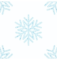 Blue snowflake seamless background vector image vector image