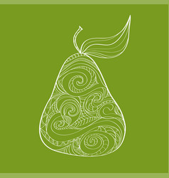 doodle hand drawn pear pattern sketched abstract vector image vector image