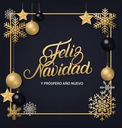 Feliz navidad hand written lettering vector