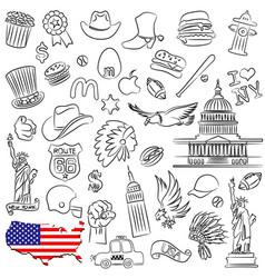 symbols of usa vector image