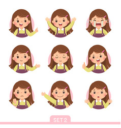 A little girl in different postures set 2 vector