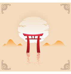 Abstract japan background vector