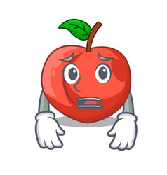 Afraid cartoon fresh sweet nectarines in the vector