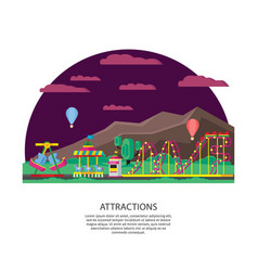 amusement park or funfair concept vector image