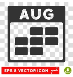 August Calendar Grid Eps Icon vector