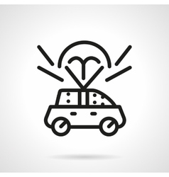 Auto insurance black line design icon vector