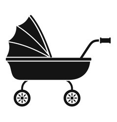 Baby trolley icon simple style vector