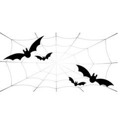 bat icons set bat wings black web silhouette vector image