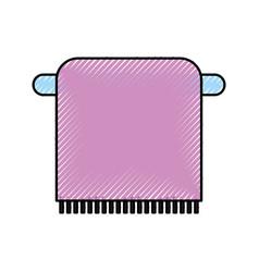 Bathroom towel on the rack cotton hygiene vector