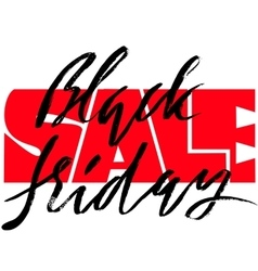 Black Friday Sale hand drawn grunge lettering vector image