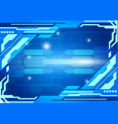 blue color abstract background digital technology vector image