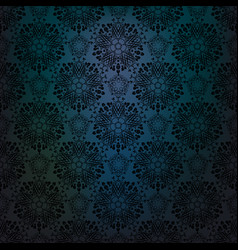 blue dark lace background vector image
