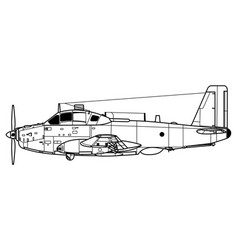 breguet 1050 alize vector image