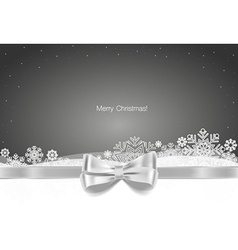 Christmas background with Gift bow and Shiny vector image