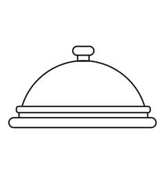 Cloche icon outline style vector