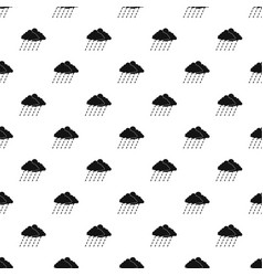 cloud rain storm pattern seamless vector image