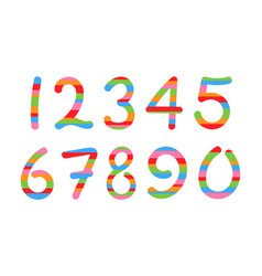 Colored arabic numerals set 1-10 vector