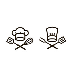 Cooking barbecue logo or icon elements of the vector