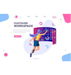 customer workspace concept vector image