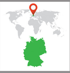 detailed map of germany and world map navigation vector image