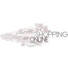 E-shop word cloud concept vector