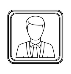 figure silver emblem technical support man vector image