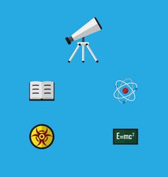 Flat icon study set of orbit theory of relativity vector