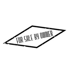 For sale by owner rubber stamp vector