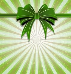 Green bow vector