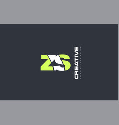 green letter zs z s combination logo icon company vector image