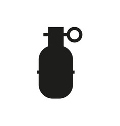 grenade in line style on white background vector image