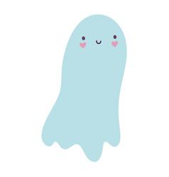 Happy halloween celebration scary ghost cartoon vector