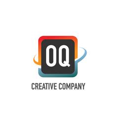 initial letter oq swoosh creative design logo vector image
