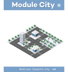 isometric city landscape vector image