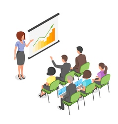 Isometric of business presentation vector image