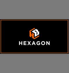 Kb hexagon logo design inspiration vector