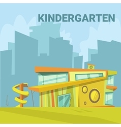 Kindergarten cartoon background vector