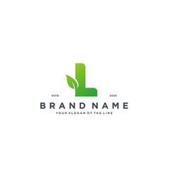 Leaf letter l logo design vector