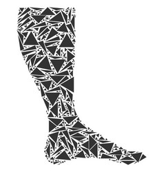 Leg mosaic of triangles vector