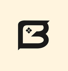 letter b home roofing creative business logo vector image