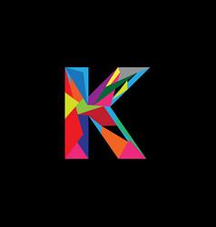 letter k image vector image