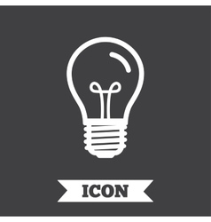 Light bulb icon Lamp E27 screw socket symbol vector image