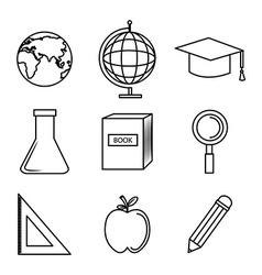 Line icons design vector