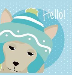 Llama cute animal cartoon vector