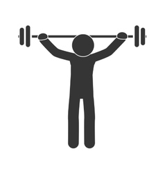 Man gym exercise training vector