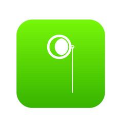 monocle icon digital green vector image