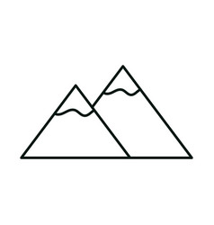 mountains peak snow landscape nature linear icon vector image